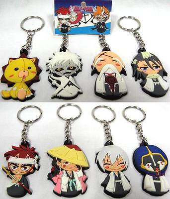 Bleach Keychains SET OF 8 PCS PVC High Quality BLKY4052