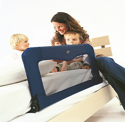 New Babydan Blue Folding Bed Rail Safety Guard To Fit Junior & Toddler Beds