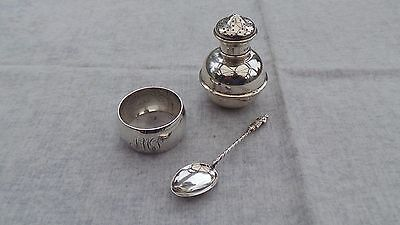 Small Group of Hallmarked Silver Items 1906-1911