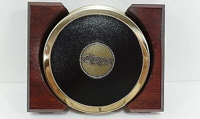 Zippo Coasters in Wooden Case- Set of 2
