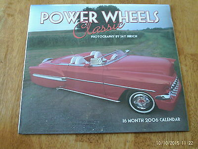 "2006 Classic""Power Wheels""Custom Muscle Car Calendar 16-Month New Sealed Unopen"