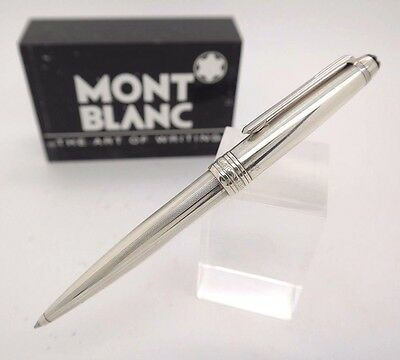 Ballpoint Pen MONTBLANC Solitaire STERLING SILVER 925 - Rare Guilloche Stripes