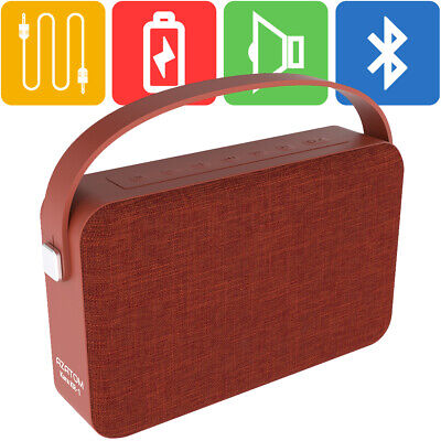 Bluetooth Speaker iPhone Android iPod 24 Watts 20hr Battery AZATOM KARA RED