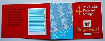 2000 Walsall Bar-Code Booklet Cat No GMA1 4 x 40p Cylinder Pane W1