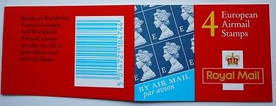 2000 Walsall 4 x E Booklet SG Catalogue No HF1 - Re-Issue
