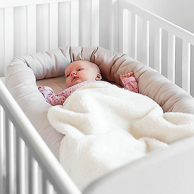 New Babydan Grey Breathable Cuddle Nest Portable Baby Bed / Play Pod Cot Reducer