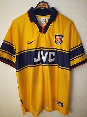 NIKE vtg Arsenal 1998-1999 soccer vintage retro shirt camiseta gunners London 90