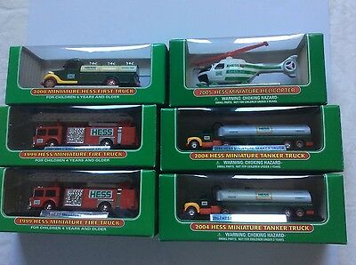 Hess Minature Toy Trucks LOT OF 6 FOR PARTS OR RESTORATION!