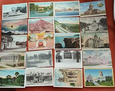 Mixed Lot Of Vintage Postcards,  250+  Linens & Early Chrome Scenic & Misc.