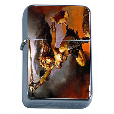 Amazon Warrior Princess D19 Windproof Dual Flame Torch Lighter Refillable