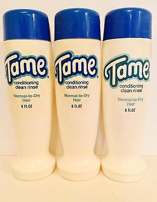 (3) Vintage TAME Conditioner For Normal To Dry Hair 8oz Each 1978 Gillette