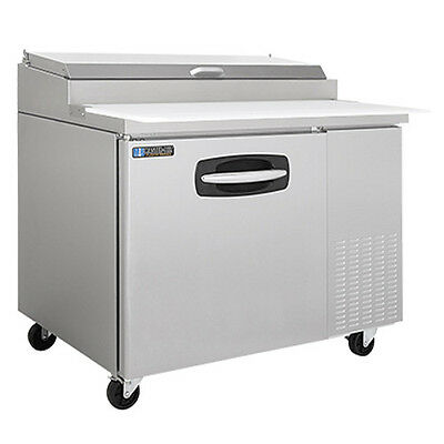 MasterBilt MBPT44-001 1 Section Fusion Refrigerated Pizza Prep Table W/ Drawers