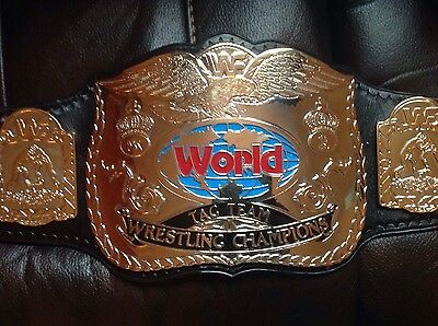 WWF block logo tag team belt