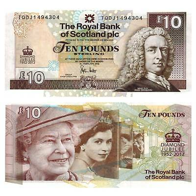 Schottland Scotland 10 Pounds 2012 Unc.Pick 368a # comm.