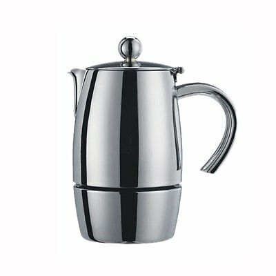 Cuisinox 3 Cup Stovetop Espresso Coffee Maker Stainless Steel Mirror Polish