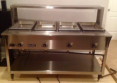 Vollrath Serve Well Steam Table Model 38218 W/ Sneeze Guard (4 Well) Make Offer!
