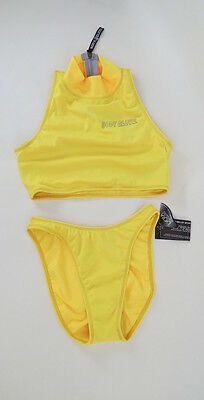 Vintage 90s Body Glove yellow two piece bikini swimsuit 8