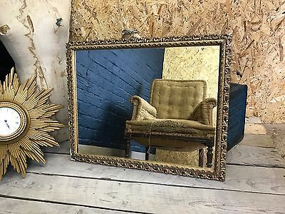 Large Vintage Gilt Gold Gesso Pierced Ornate Wall Mirror