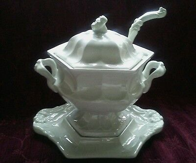 Red Cliff Ironstone HEIRLOOM SoupTureen with Lid, Underplate & Ladle c. 1950's