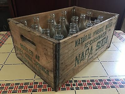 Antique Jacksons Napa Soda Water Mineral Springs California Crate 19 Bottles Ad
