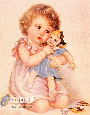 Her First Sorrow by Charlotte Becker (Art Print of Vintage Art)