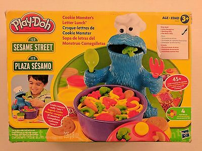 Play-Doh Cookie Monster's Letter Lunch 25 Letter Pieces Sesame Street w/ Box