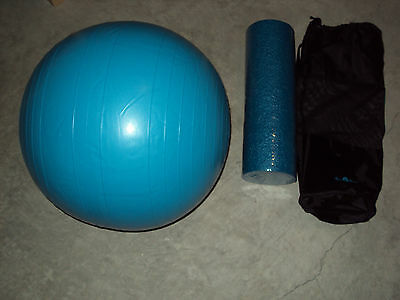 Finer Things, Fitness Stretching Set, Foam Roller, Bag, And Stability Ball