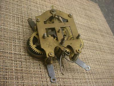 German Junghans Brass Time & Strike Kitchen Wall  Clock Movement D647a