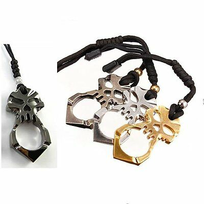 Skull Alloy Hammer Emergency Gear Key Chain Self Defence Outdoor Hiking Rescue
