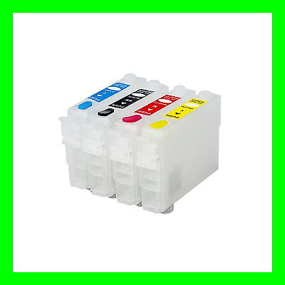 Kit 4 refillable cartridges without chip Eps series 27 27XL WorkForce WF-7610DWF