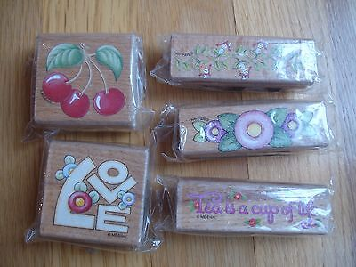 Mary Engelbreit Stamps Tea Is A Cup Of Life Cherries Lot Of 5