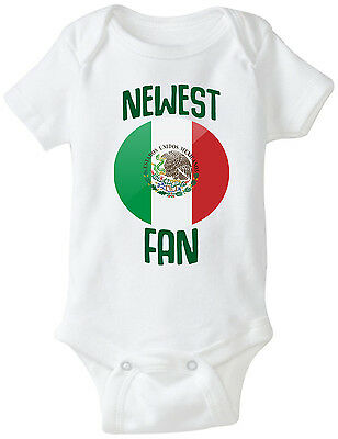 ad896ae8da6 Mexico Newest Fan Bodysuit Soccer Baby Outfit Mameluco Infant Girls Boys