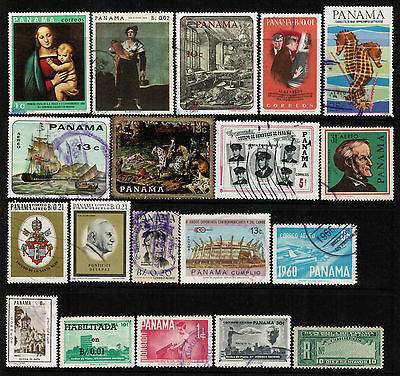 PANAMA Stamps Collection Used Space Flags Birds Fish Sports Cows Ship Horse PAN1