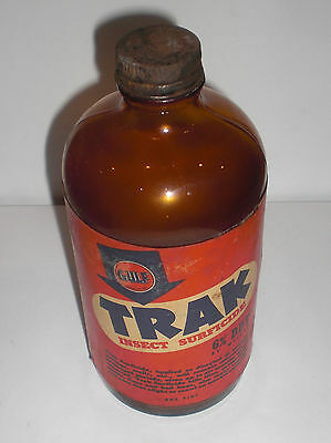 Gulf Trak Insect Surficide one pint empty bottle early logo