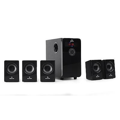 Altavoces Home Cinema Subwoofer + 5 Satelites Usb Sd 5.1 70W Radio Mp3 Speakers