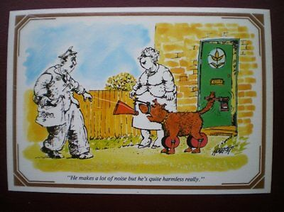 Postcard Royal Mail Joke - He Makes A Lot Of Noise But Is Harmless