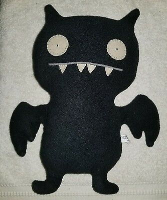 """UGLY DOLL Black Ice Bat plush 14"""" from tip of ears to bottom feet"""