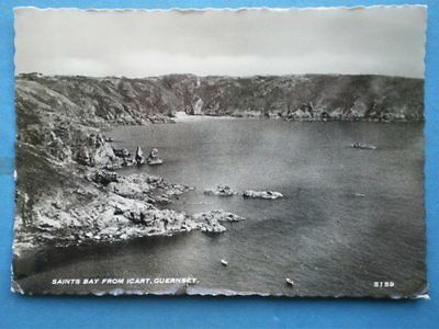 Postcard Rp Guernsey Saints Bay From Icart