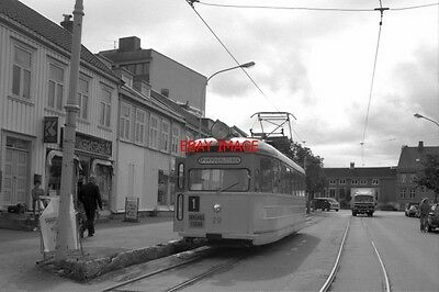 Photo  1990 Norway Tram Trondheim St Olays Gt Tram Nos 29