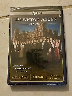 Masterpiece Classic: Downton Abbey - Season 3 DVD Region 1 NEW