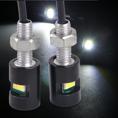 2Pcs Car Auto Motorcycle 12V White LED SMD License Plate Bolt Light Lamp Bulb