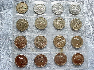 Canada Nickel Collection Lot of 16 5 cent coins