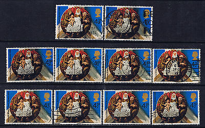 Great Britain #733(1) 1974 4.5 pence Christmas Nativity St. Helen's Norwich Used