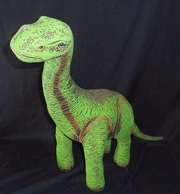 "18"" Vintage 1992 Applause Green Apatosaurus Dinosaur Dino Stuffed Animal Plush"