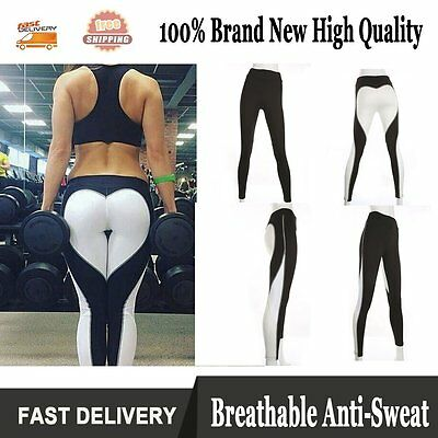 Women Sports Athletic Pants Gym Yoga Workout Mesh Leggings Fitness Leotards US