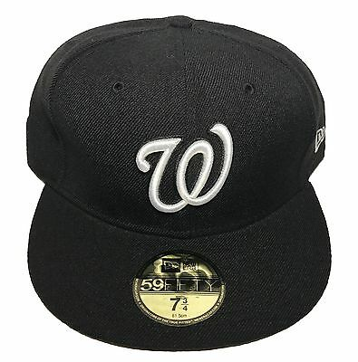 7bdd86565db NEW ERA MLB Washington Nationals Basic All Black 59FIFTY Fitted Cap ...