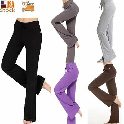 Athletic Bamboo Fabric Sports Women's Yoga Clothes Loose Bloomers Pants Trousers
