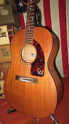 Vintage 1962 Epiphone Caballero Small Acoustic Guitar Natural w/ Gigbag Clean!