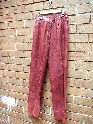 Vintage 80s Leather PANTS baggy hammer tap party costume harem tapered trousers