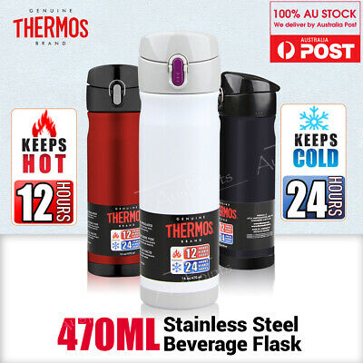 Thermos Stainless Steel Vacuum Insulated Travel Mug Commuter Bottle Flasks 470ml